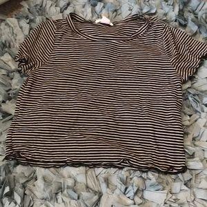 Tops - Striped Crop Top
